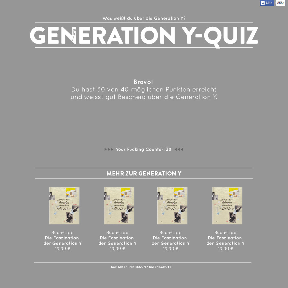Quiz-Aufölsung GenerationY
