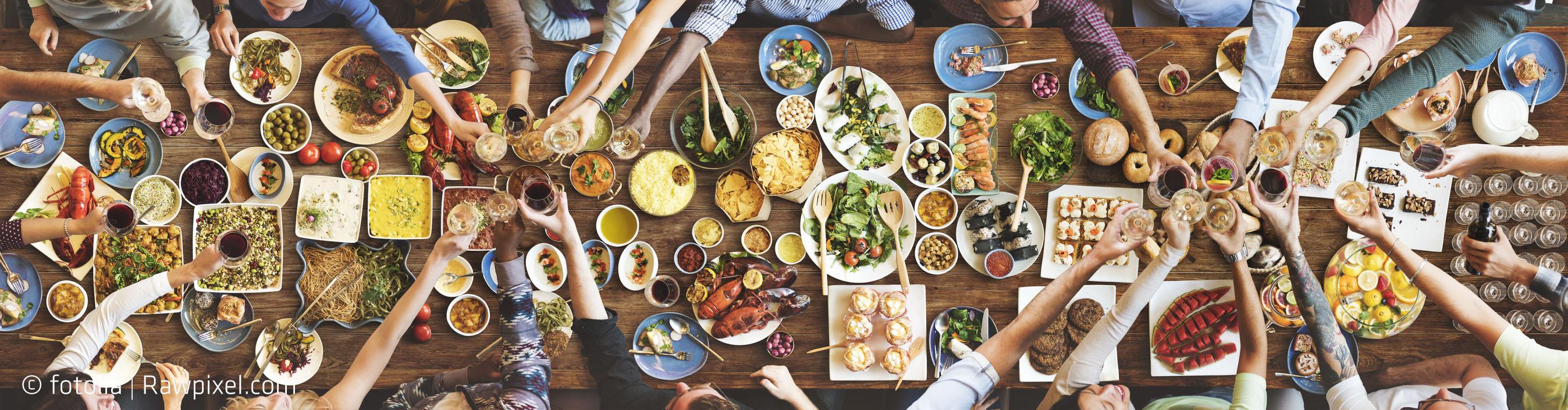 Essen mit Freunden