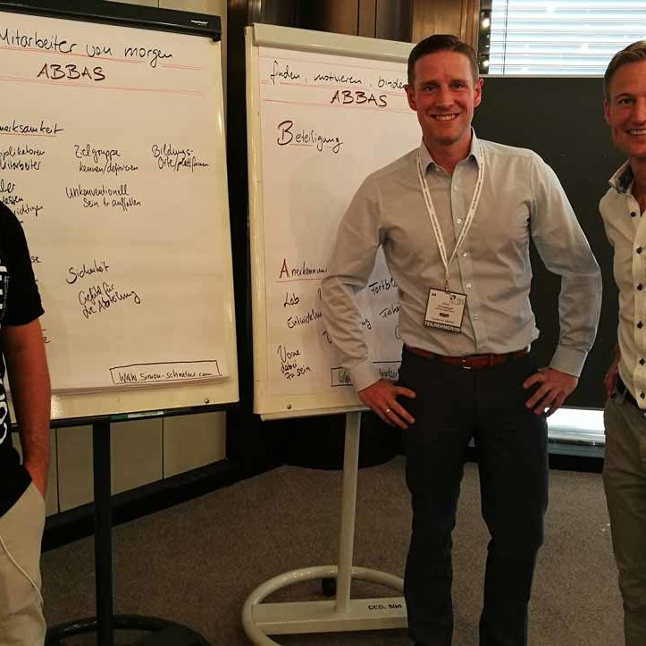 Simon Schnetzer Recruiting Tipps IT - Flipchart Team