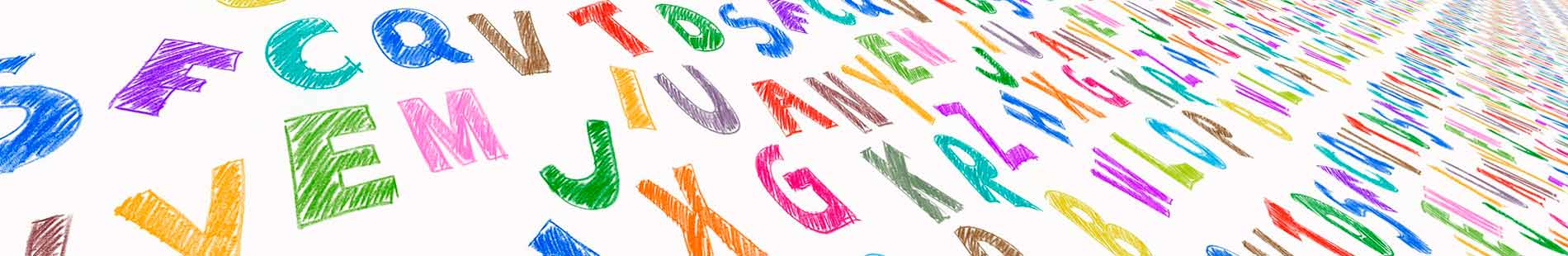 Abbildung Buchstaben in der Flucht - Jugendsprache 2019