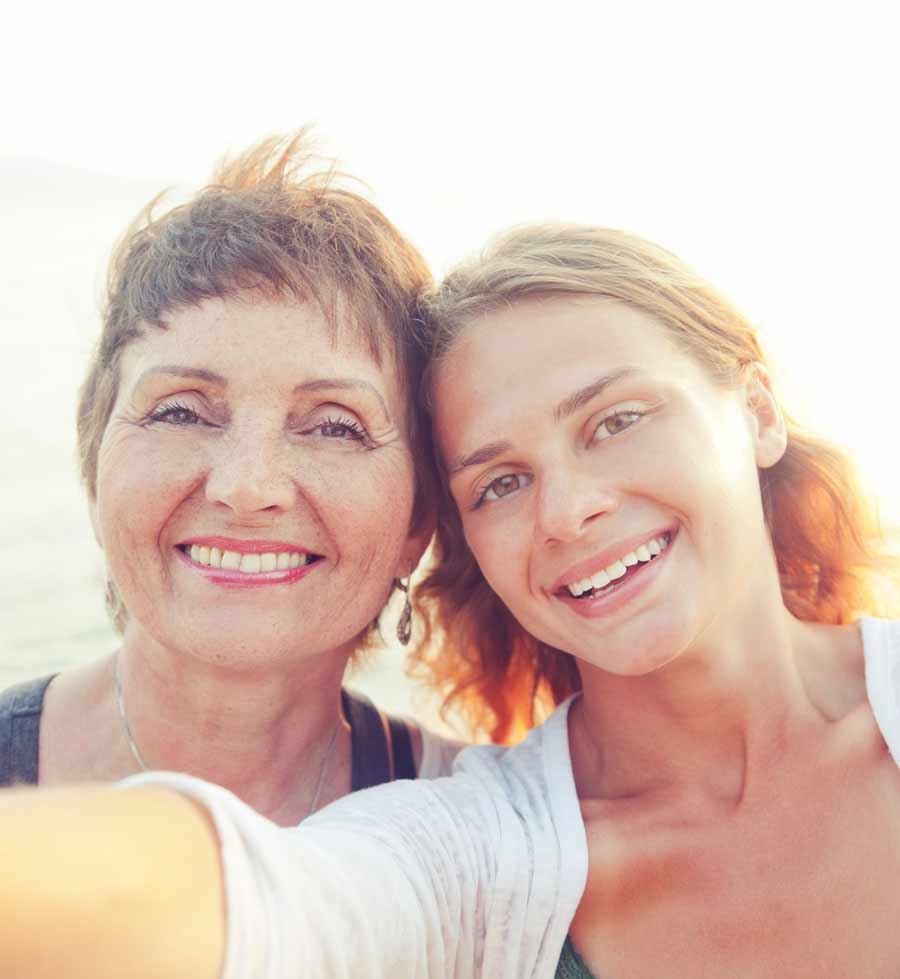 Mutter Tochter: Haupteigenschaft Generation Z Geborgenheit in der Familie