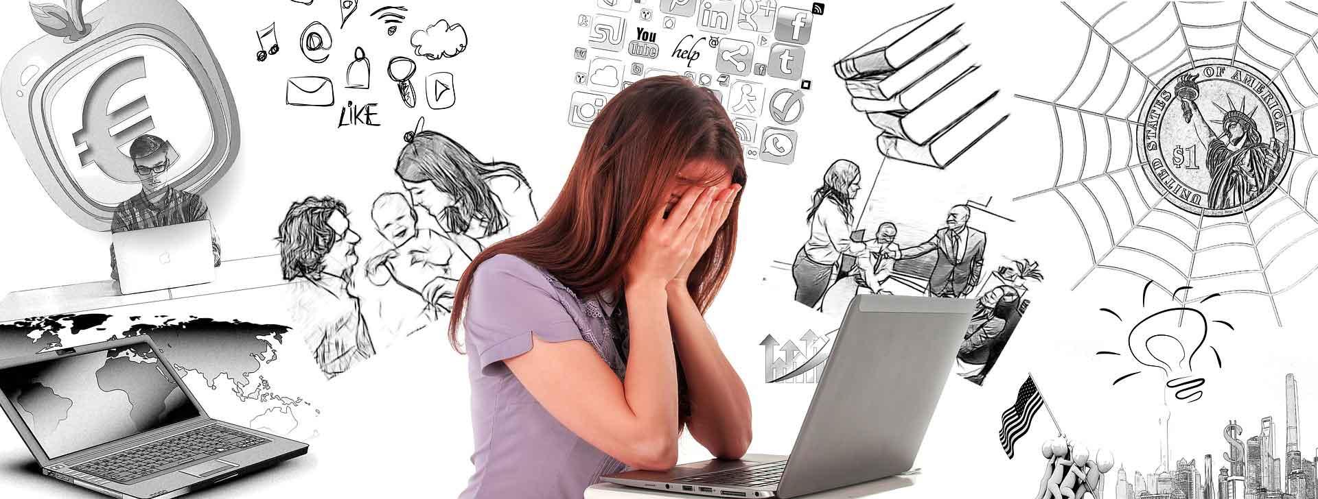Junge Frau der Generation Z verunsichert beim Thema Finanzen