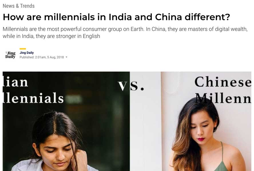 How are millennials in India and China different?