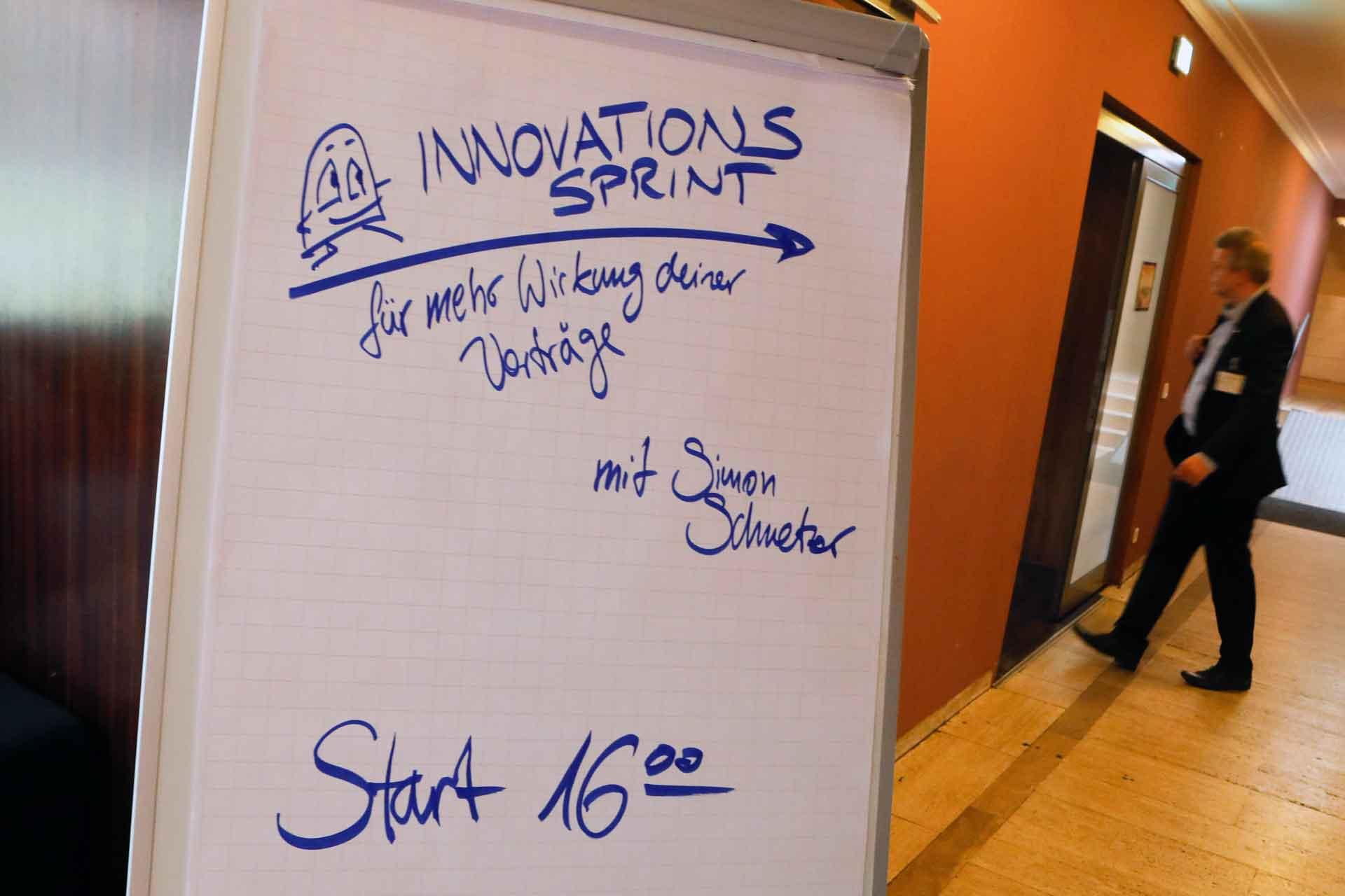 Eingang Innovationssprint Simon Schnetzer - GSA Winterkonferenz 2019