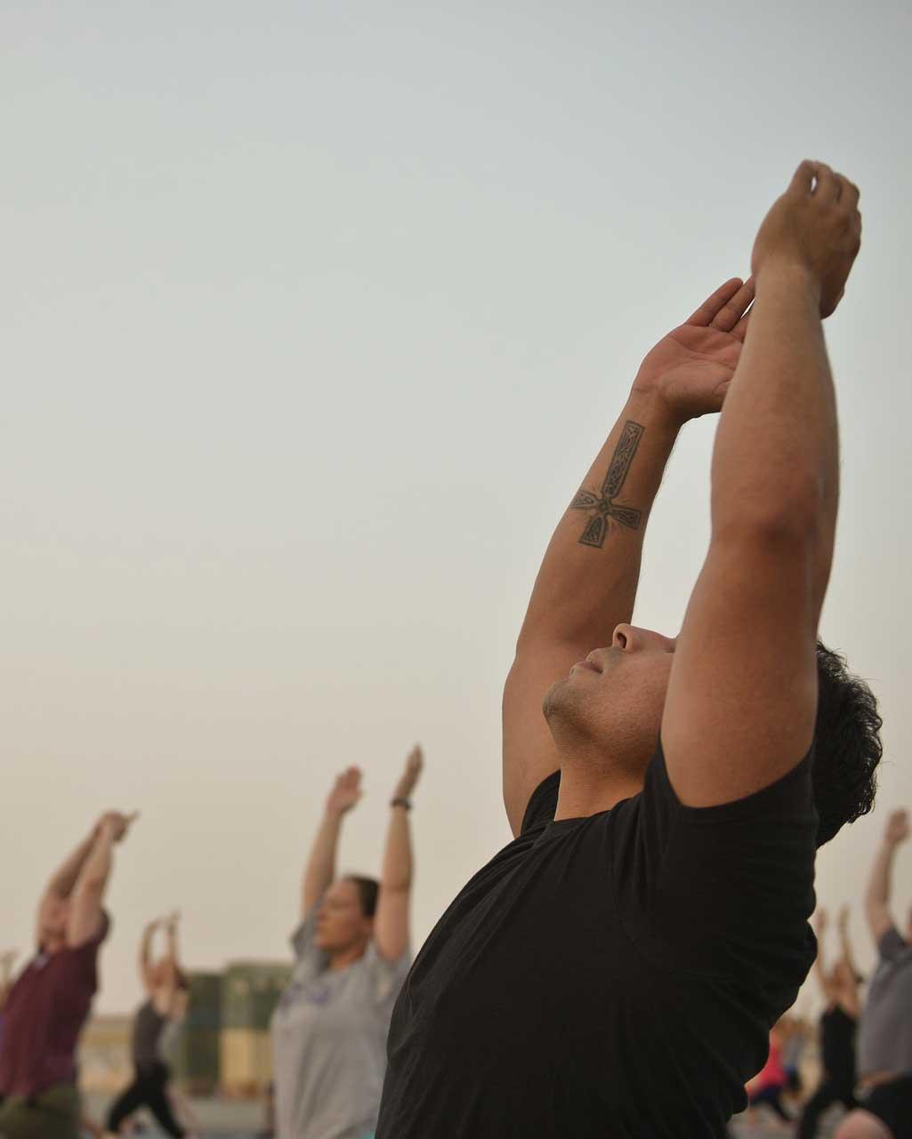 Yoga im Unternehmen - Dachterasse -New Work