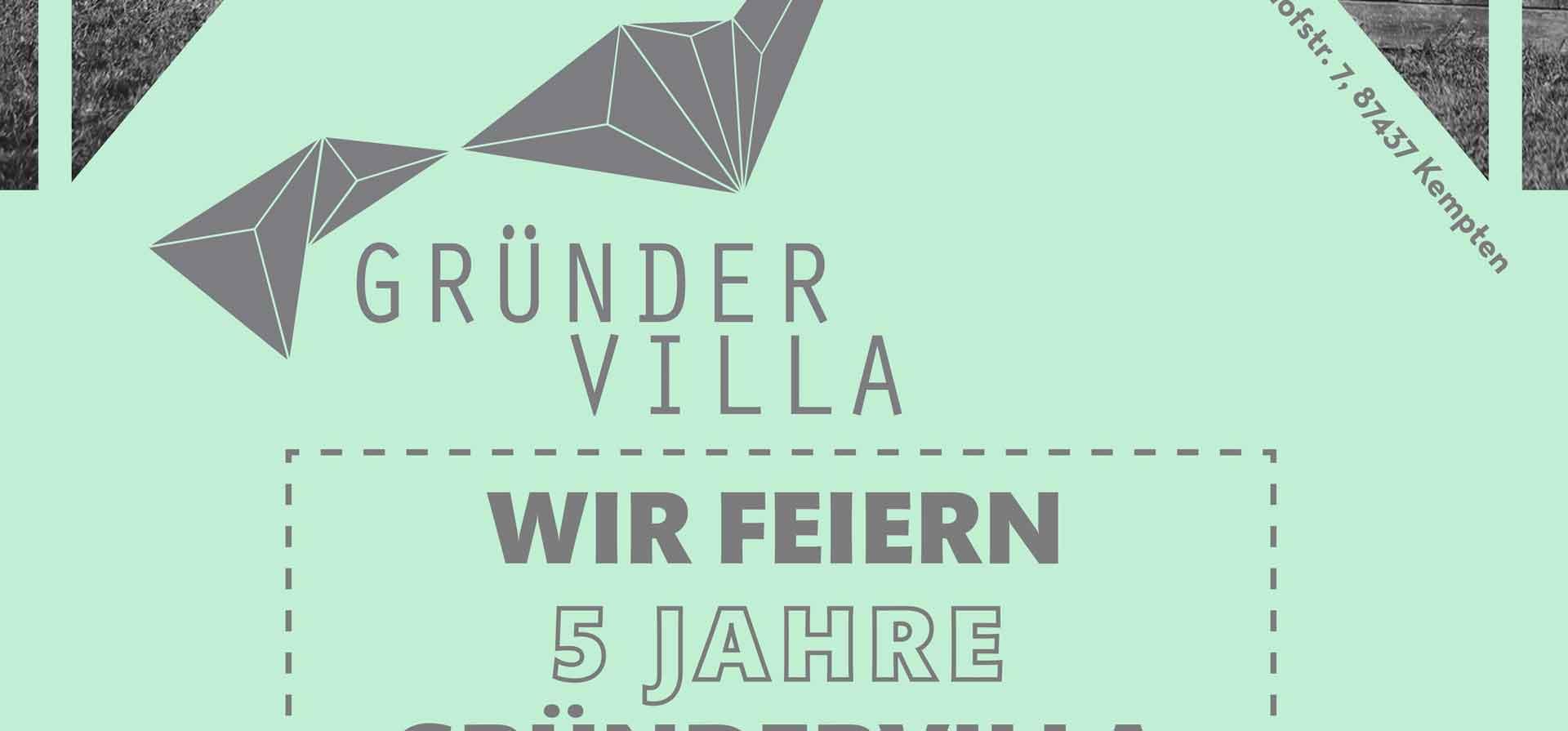 Flyer Gündervilla 5 Jahres-Feier