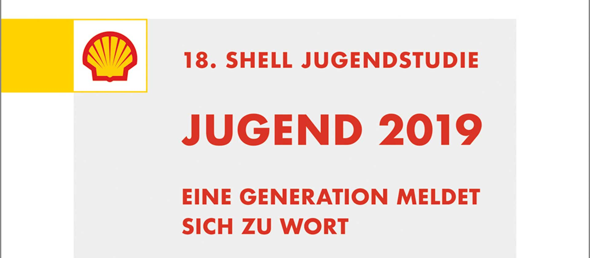 Cover 18. Shell Jugendstudie 2019