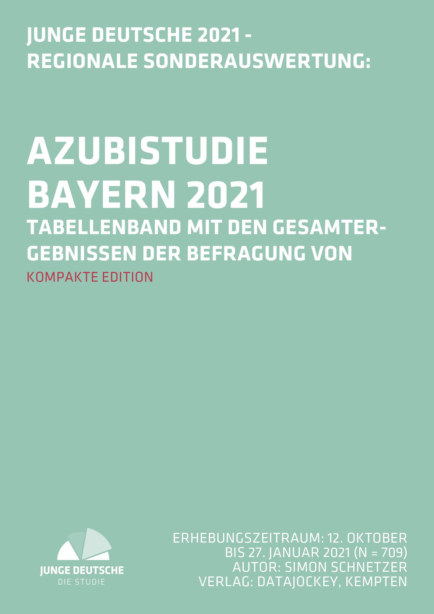 Cover Ausbildungsstudie (Azubistudie) Bayern 2021