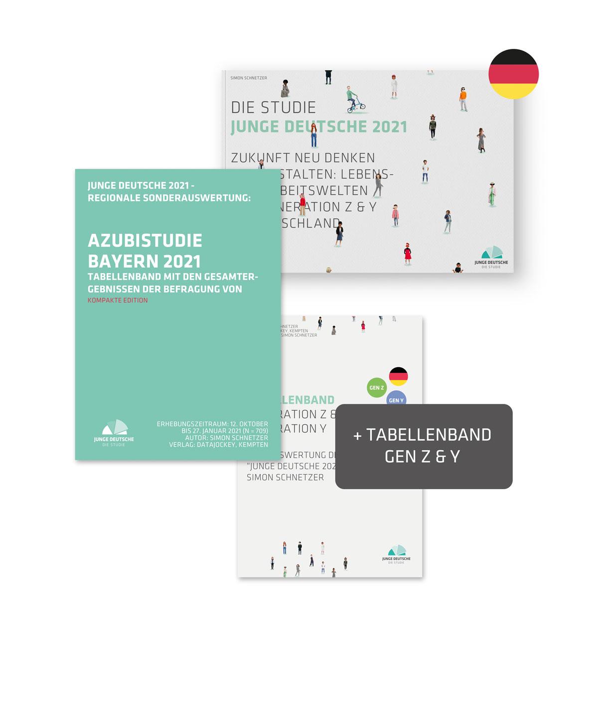 Produktbild - Azubistudie BAYERN + Studie Junge Deutsche 2021 Publikation PLUS