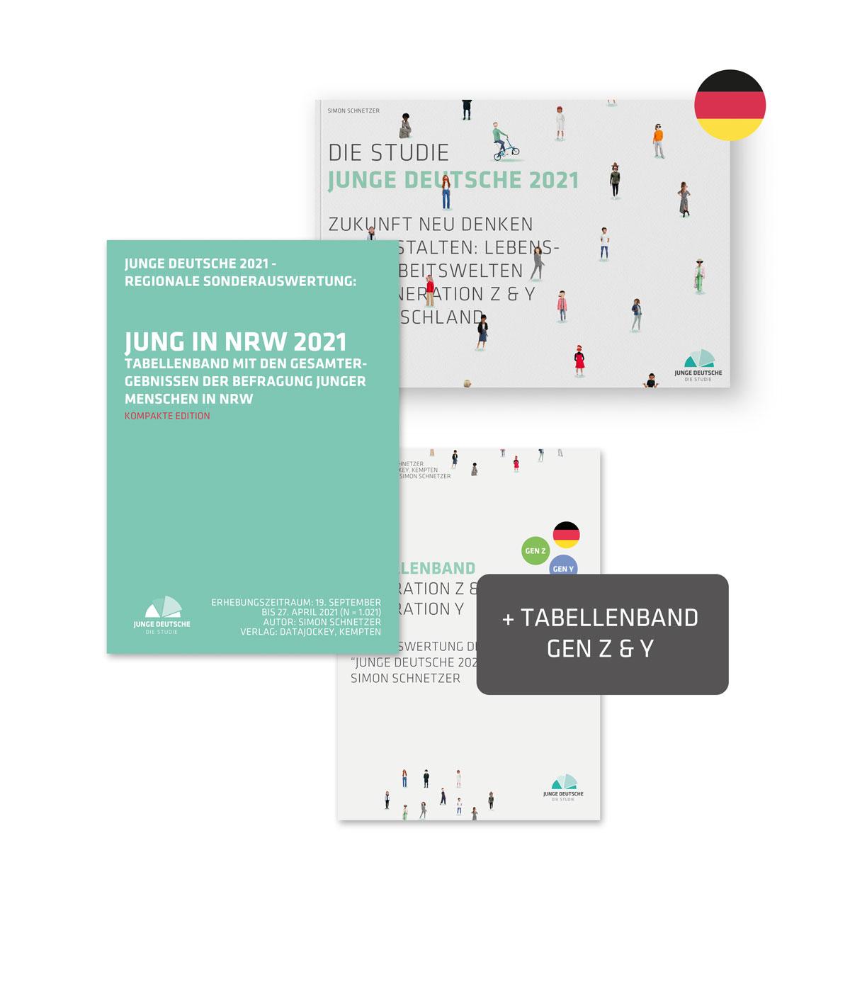 Produktbild - NRW + Studie Junge Deutsche 2021 Publikation PLUS